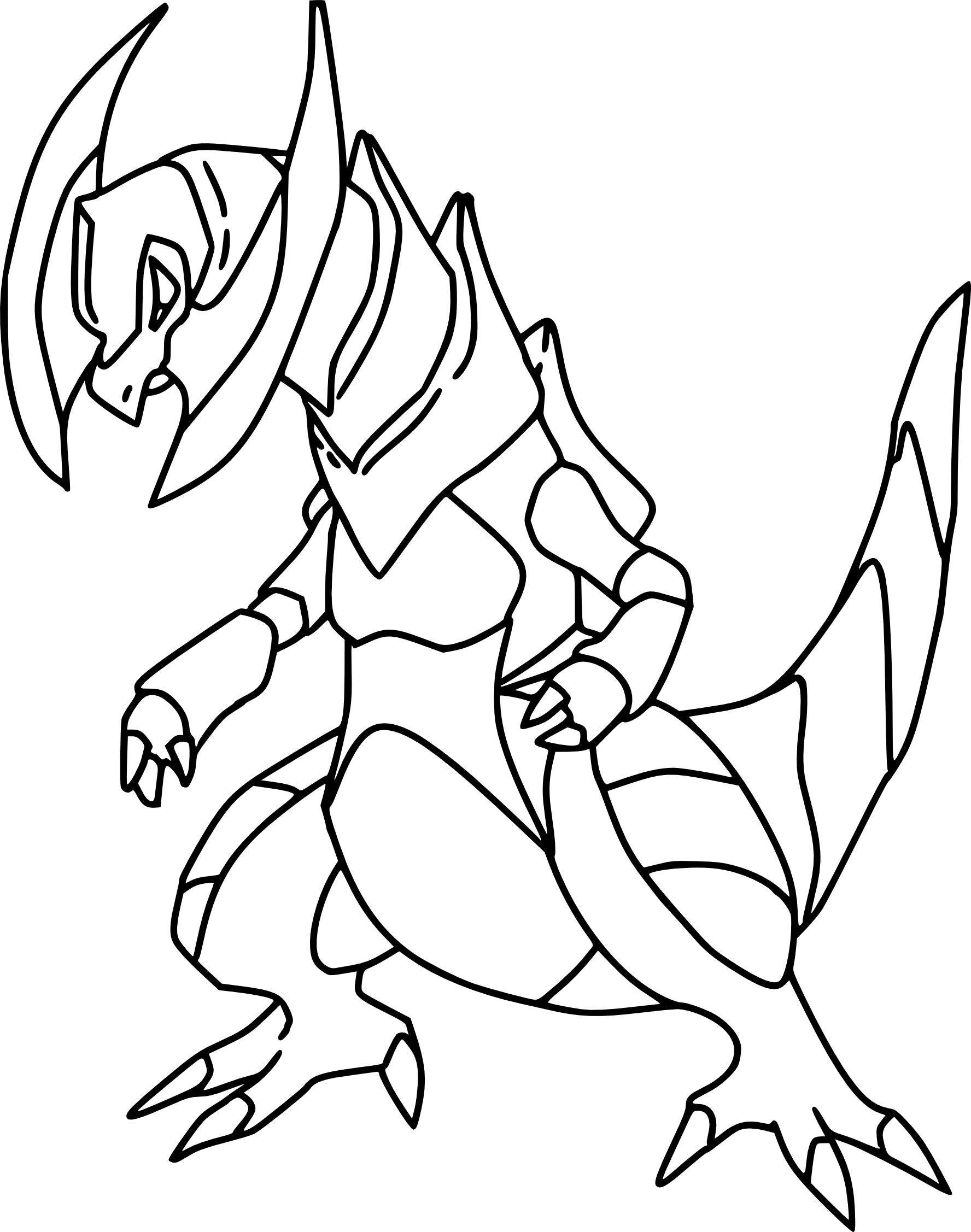 Tranchodon : Coloriage Pokemon Tranchodon À Imprimer tout Coloriage De Pokémon Gratuit