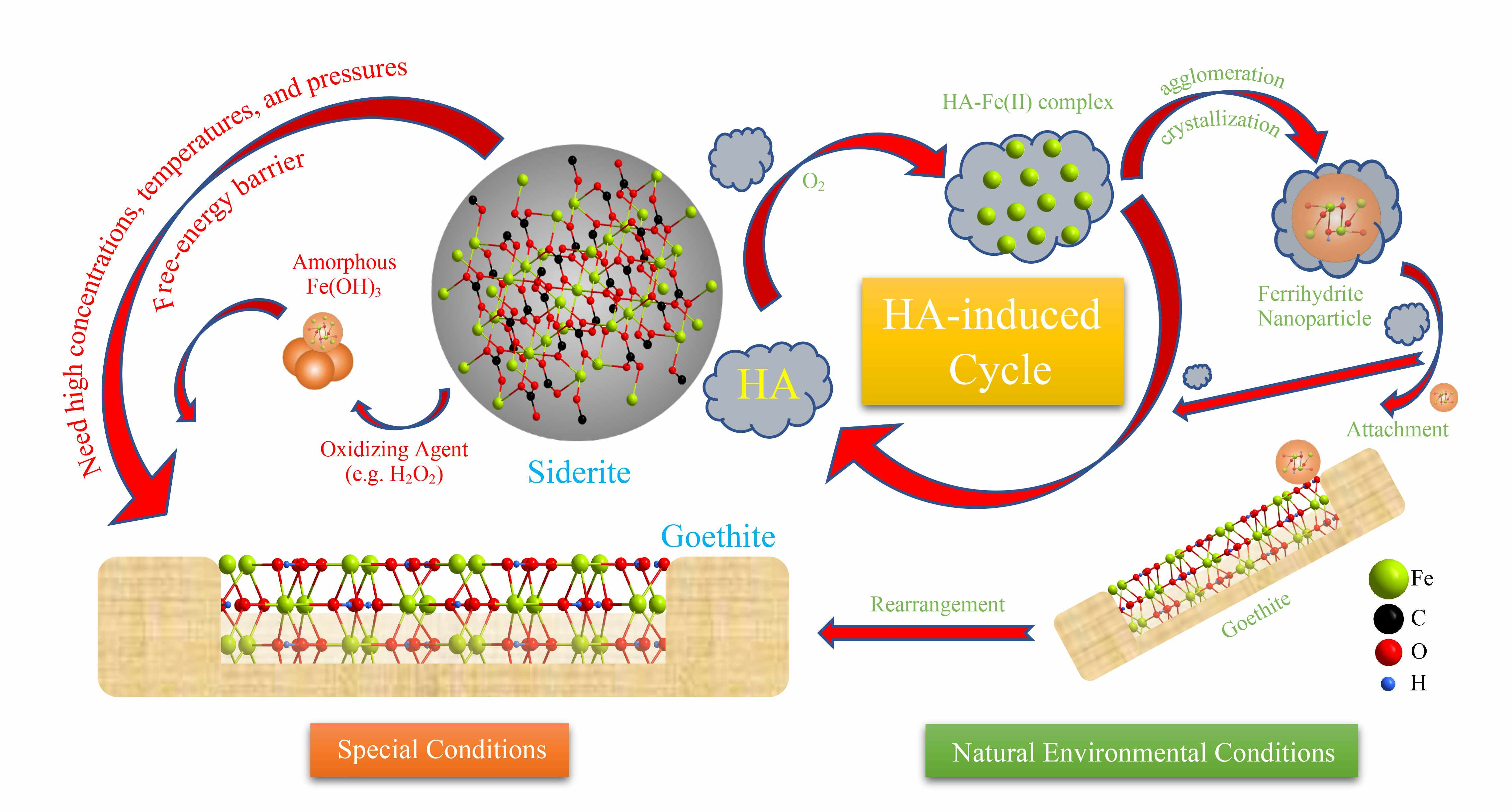 Transformation Of Siderite To Goethite By Humic Acid In The pour Musique Cycle 2
