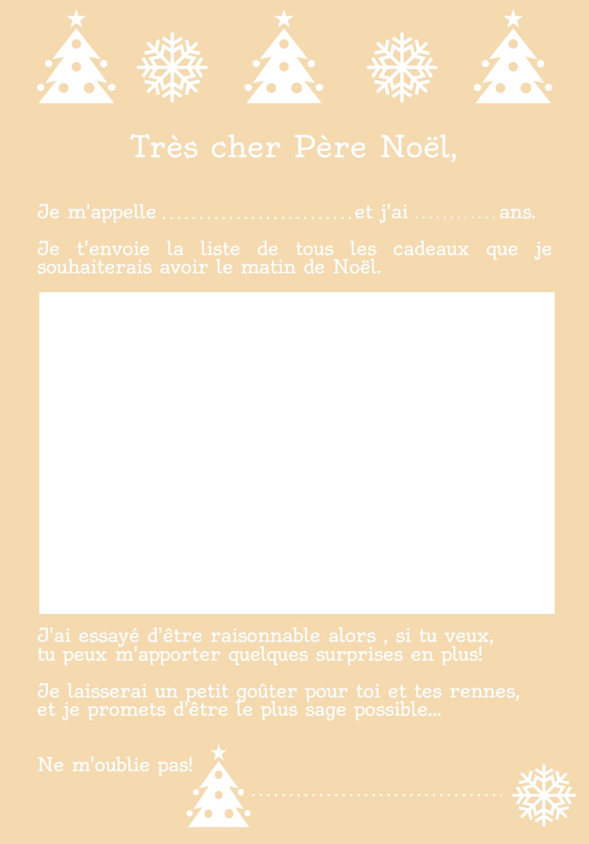Très Cher Papa Noël… [Modèles De Lettre À Imprimer] – Je Ne à Liste Pere Noel Imprimer