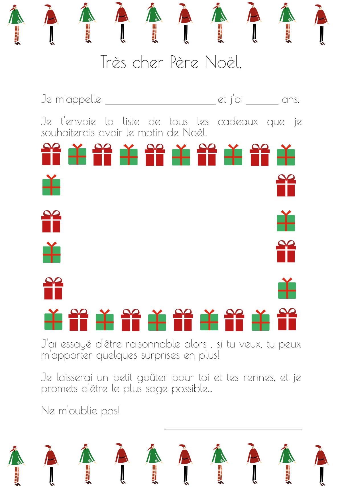 Très Cher Papa Noël… [Modèles De Lettre À Imprimer] – Je Ne dedans Liste Pere Noel Imprimer