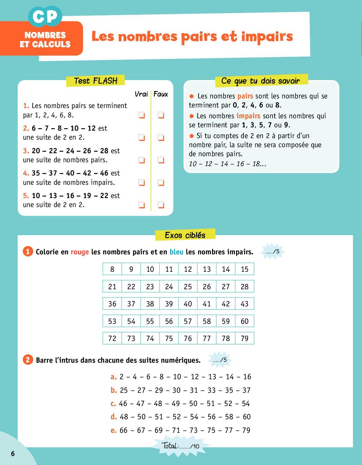 Trio - Maths- Cp- Ce1- Ce2 - Calameo Downloader destiné Nombres Pairs Et Impairs Ce2