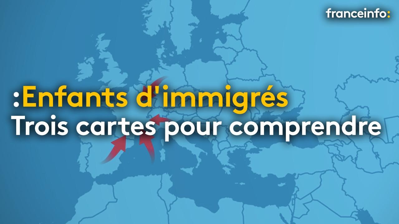 Trois Cartes Pour Comprendre La Situation Des Enfants D'immigrés En France  - France concernant Carte De France Pour Les Enfants