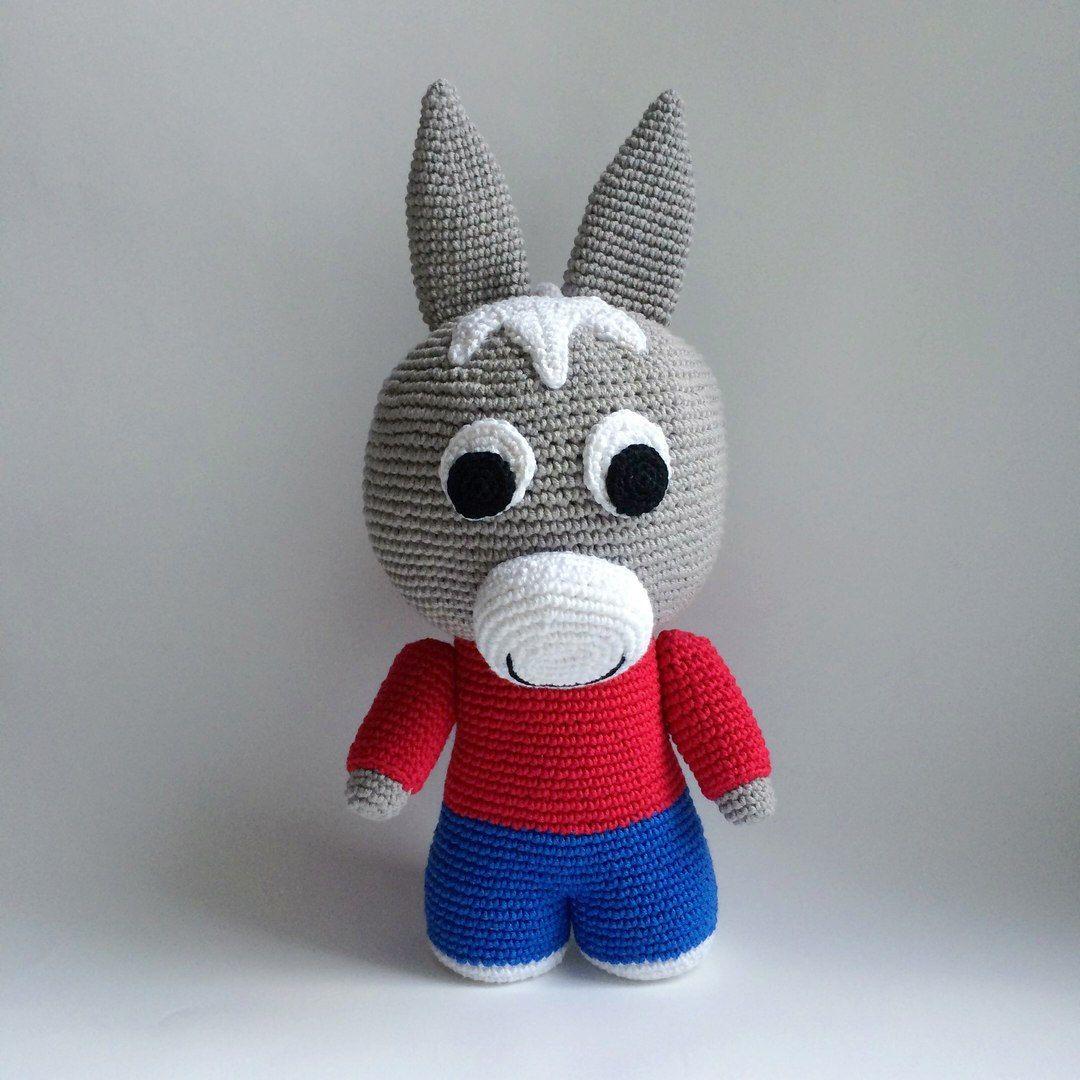 Trotro By Trotro Cartoon, Pdf Crochet Pattern, Instant concernant Doudou Ane Trotro