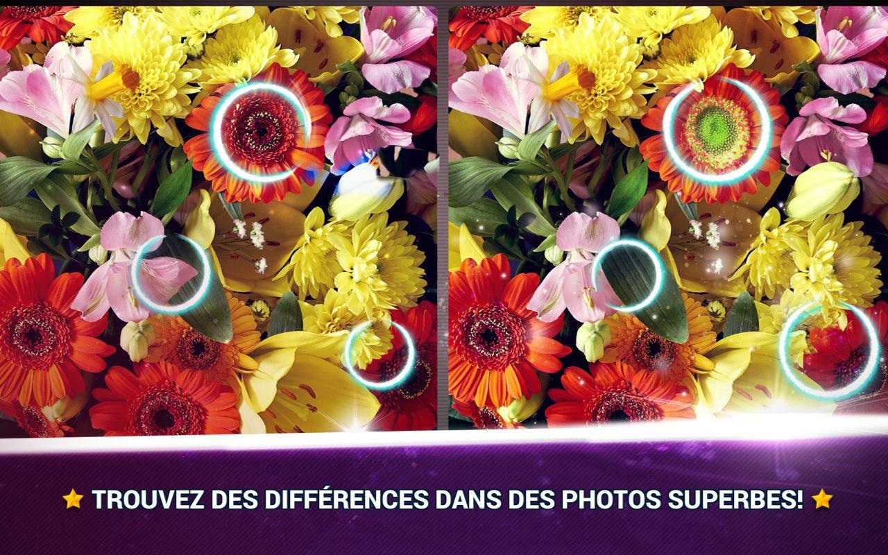 Trouver La Différence Fleurs - Jeux Des Erreurs - Jeux Midva pour Jeux De Différence