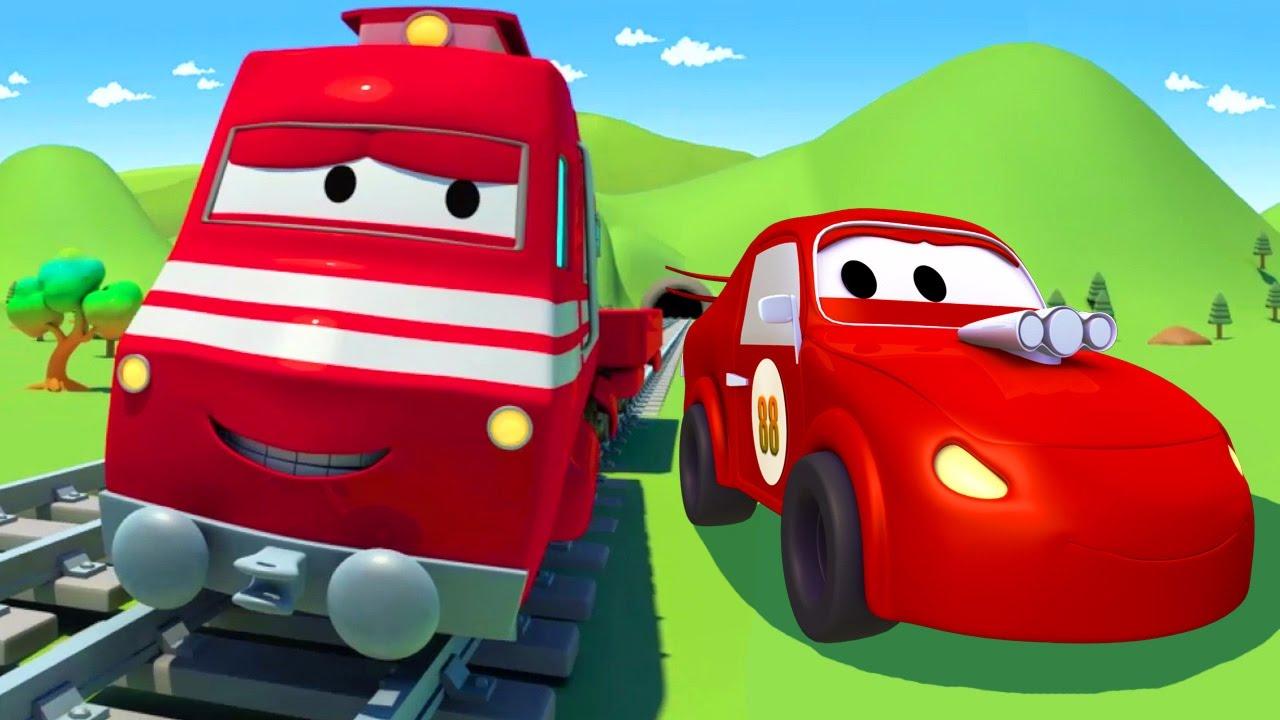 Troy Le Train Et La Voiture De Course À Car City | Dessin Animés Pour  Enfants encequiconcerne La Voiture De Course Dessin Animé