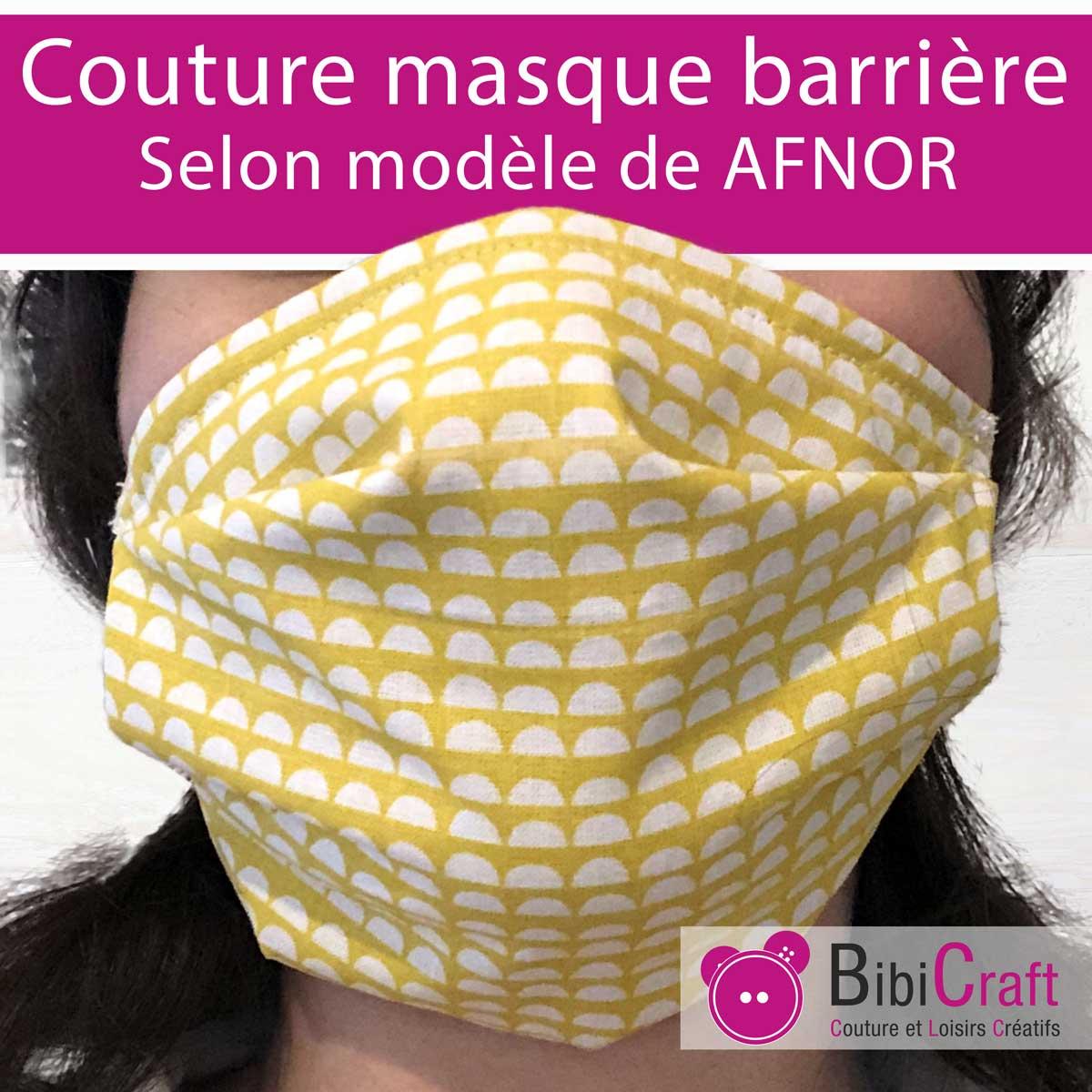 Tuto Masque En Tissu De Protection Afnor | Bibicraft à Masque Canard À Imprimer