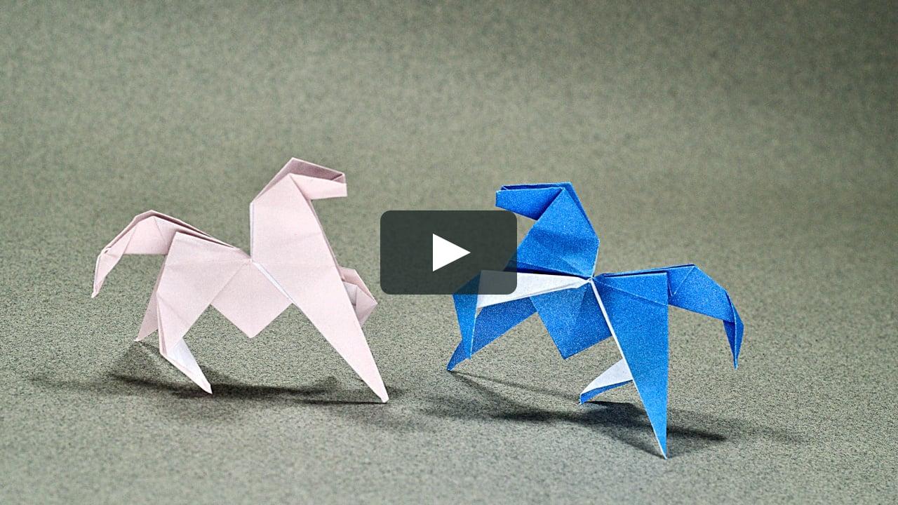 Tuto - Mini Cheval En Origami tout Origami Facile A Faire En Français