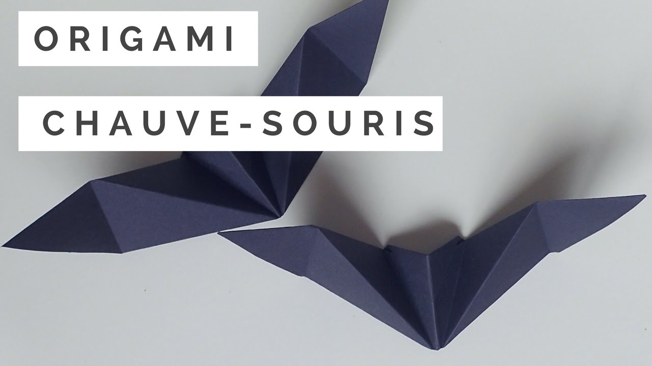 Tuto Origami Chauve Souris encequiconcerne Origami Chauve Souris