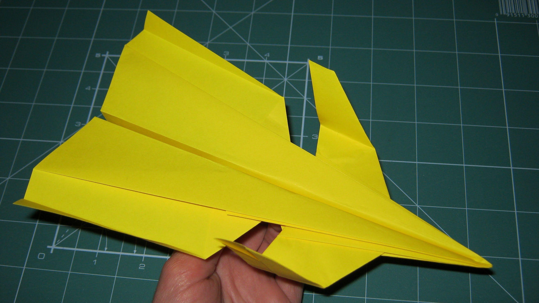 Tutorial Paper Airplane Super Canard Origami (John Collins) dedans Origami Canard