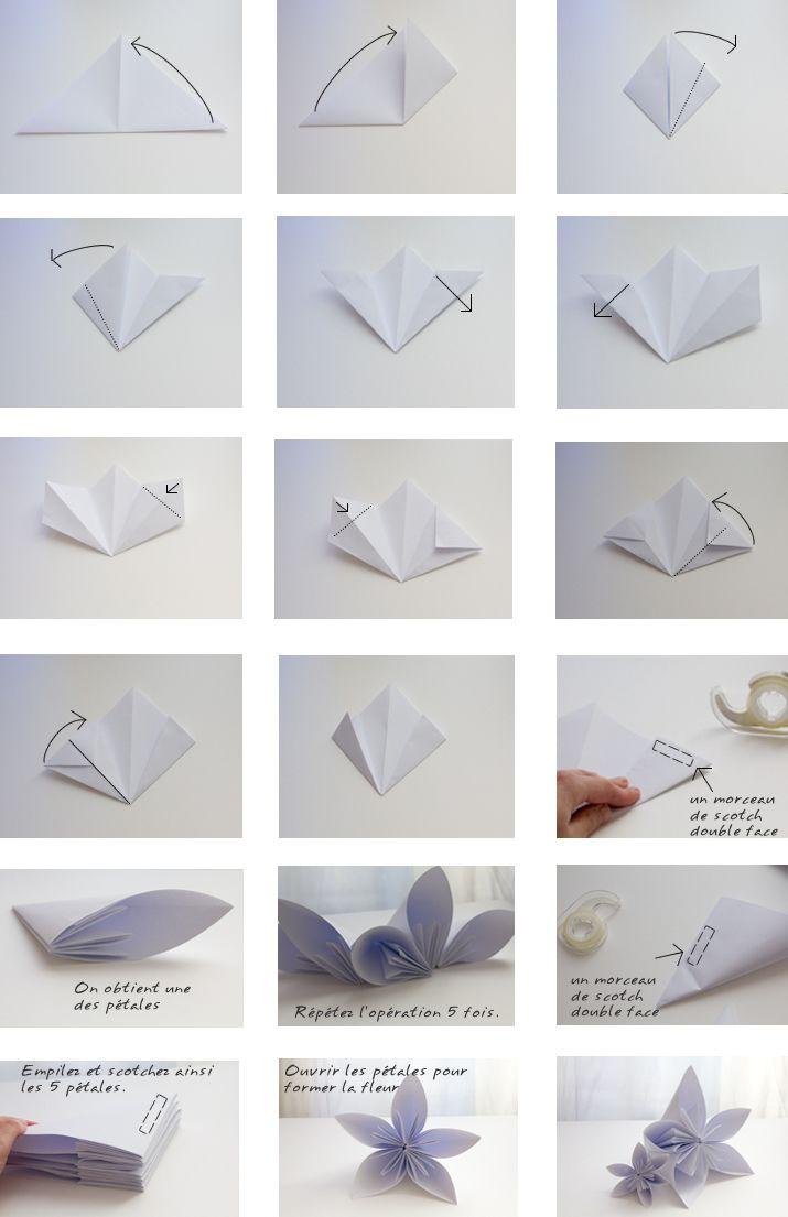 Tutoriel – La Déco De Table En Origami Géant De La Craft pour Origami Facile A Faire En Français