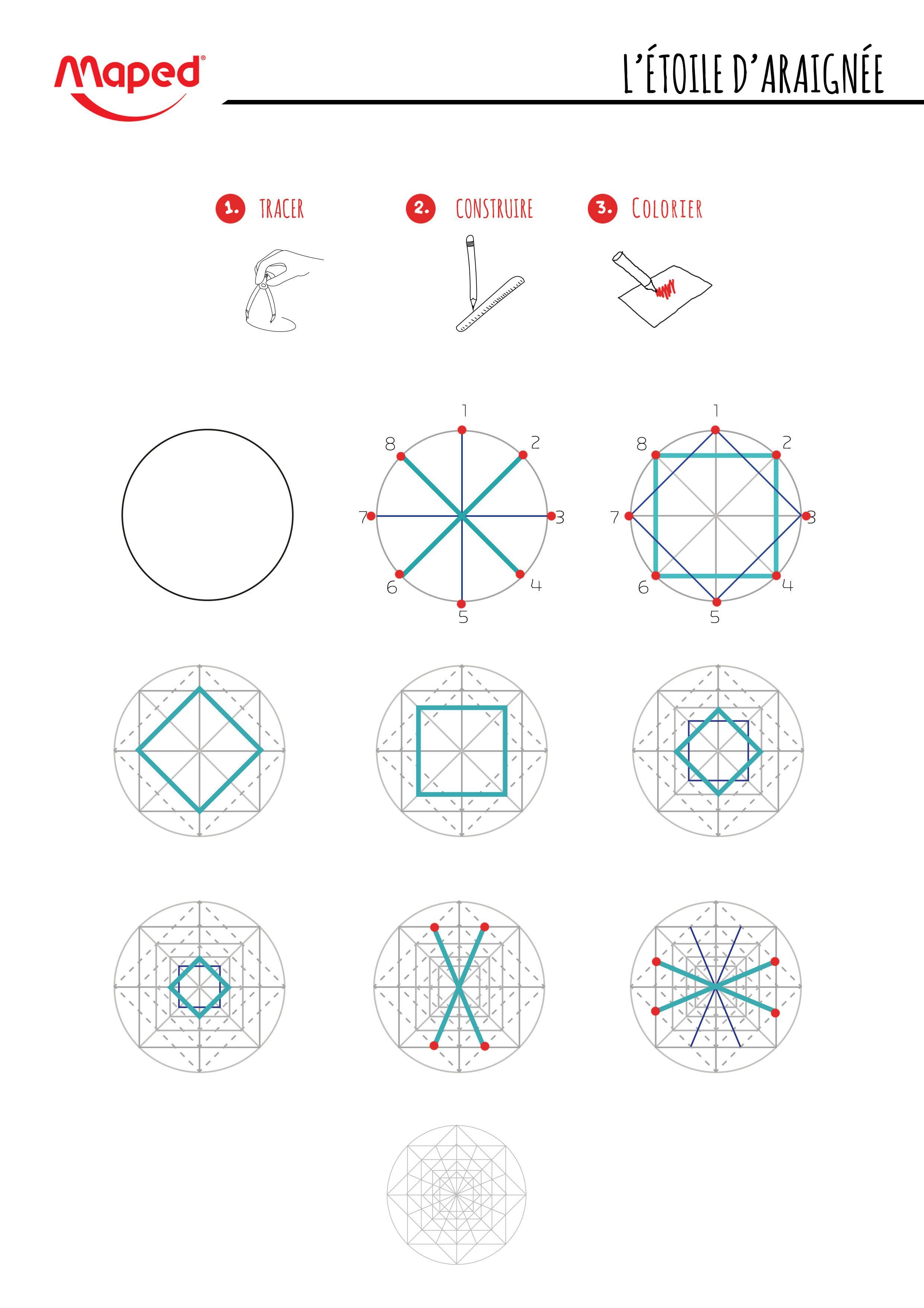 Tutoriel : Rosaces & Compas | Dessin Au Compas, Tutoriel De serapportantà Image De Rosace