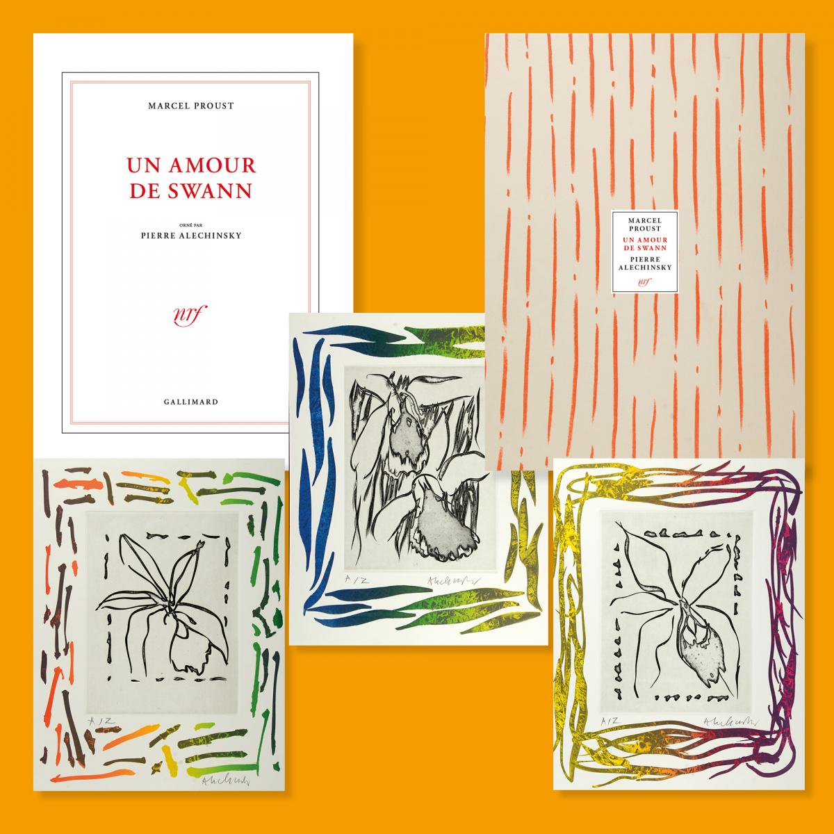 Un Amour De Swann Illustré Par Pierre Alechinsky concernant Oeuvre Alechinsky