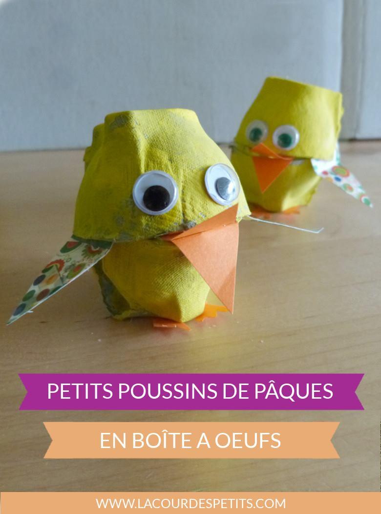 Un Bricolage Poussin Pour Pâques ! |La Cour Des Petits serapportantà Bricolage Pour Paques Maternelle