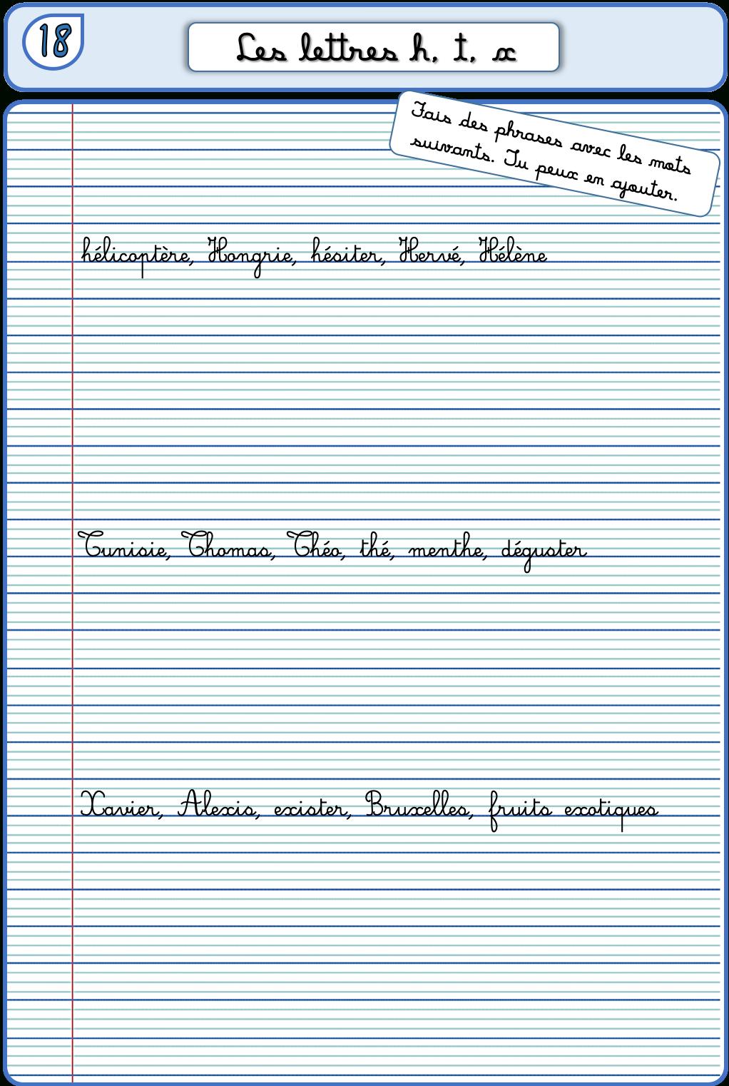 Un Cahier D'écriture Cm1 Cm2, Fiches À Photocopier – La encequiconcerne Exercice Cm2 Gratuit