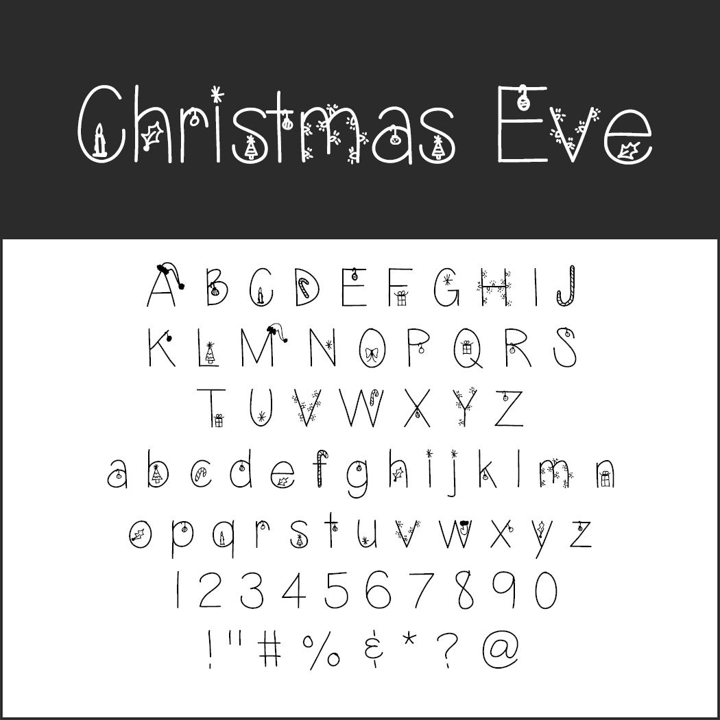 Un Large Choix De Polices D'écriture Pour Noël À Télécharger avec Police Ecriture Noel