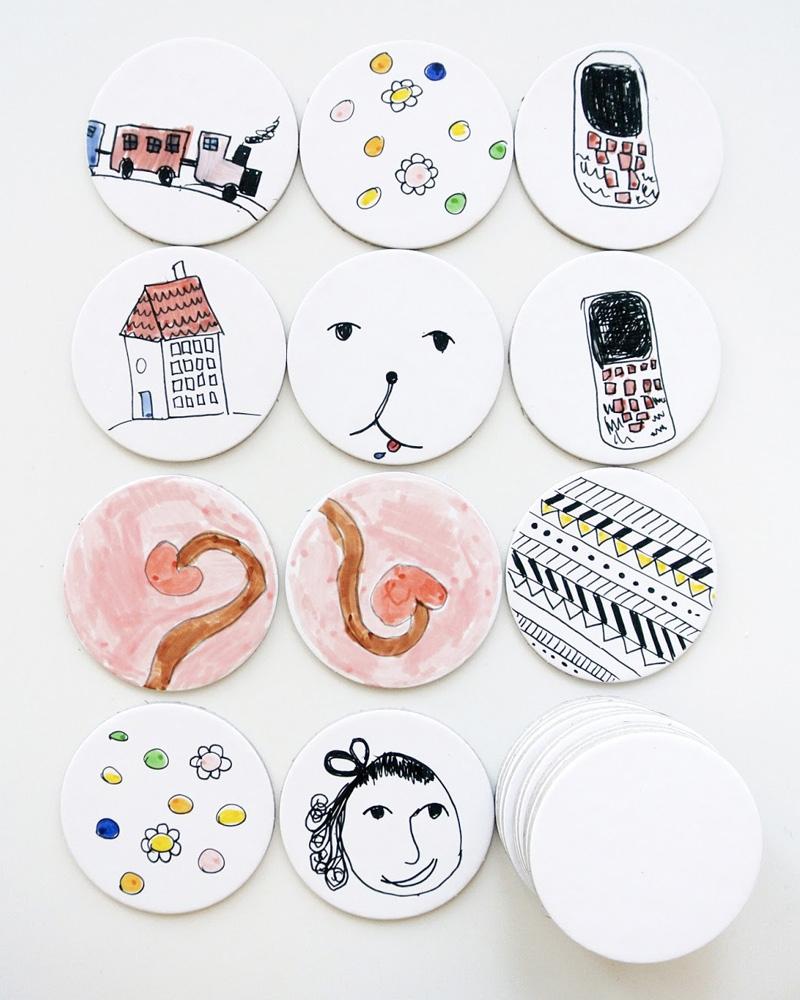 Un Memory Game Fait Maison | Shake My Blog avec Jeux De Memoire Enfant