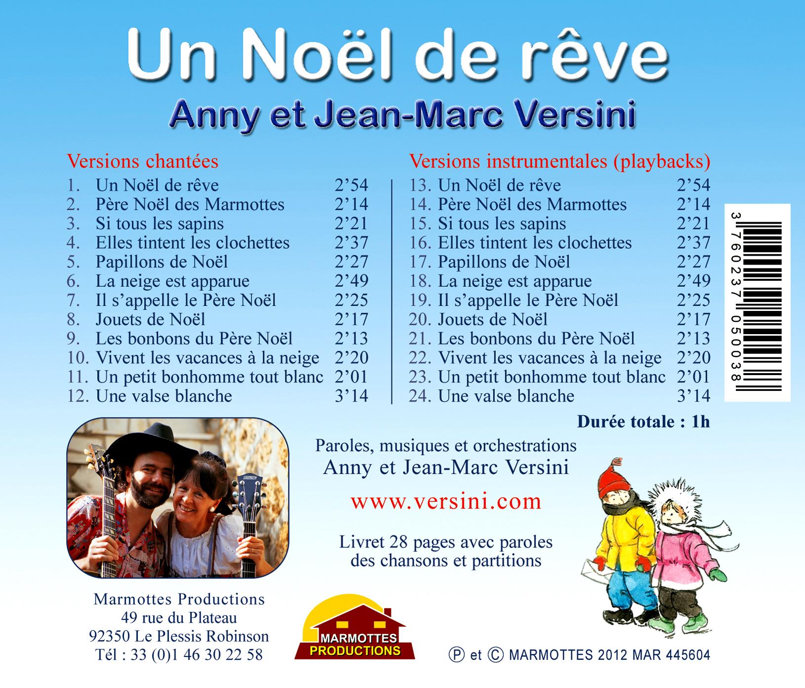 Un Noël De Rêve (Cd) - A Et J-M Versini avec Chanson Dans Son Manteau Rouge Et Blanc