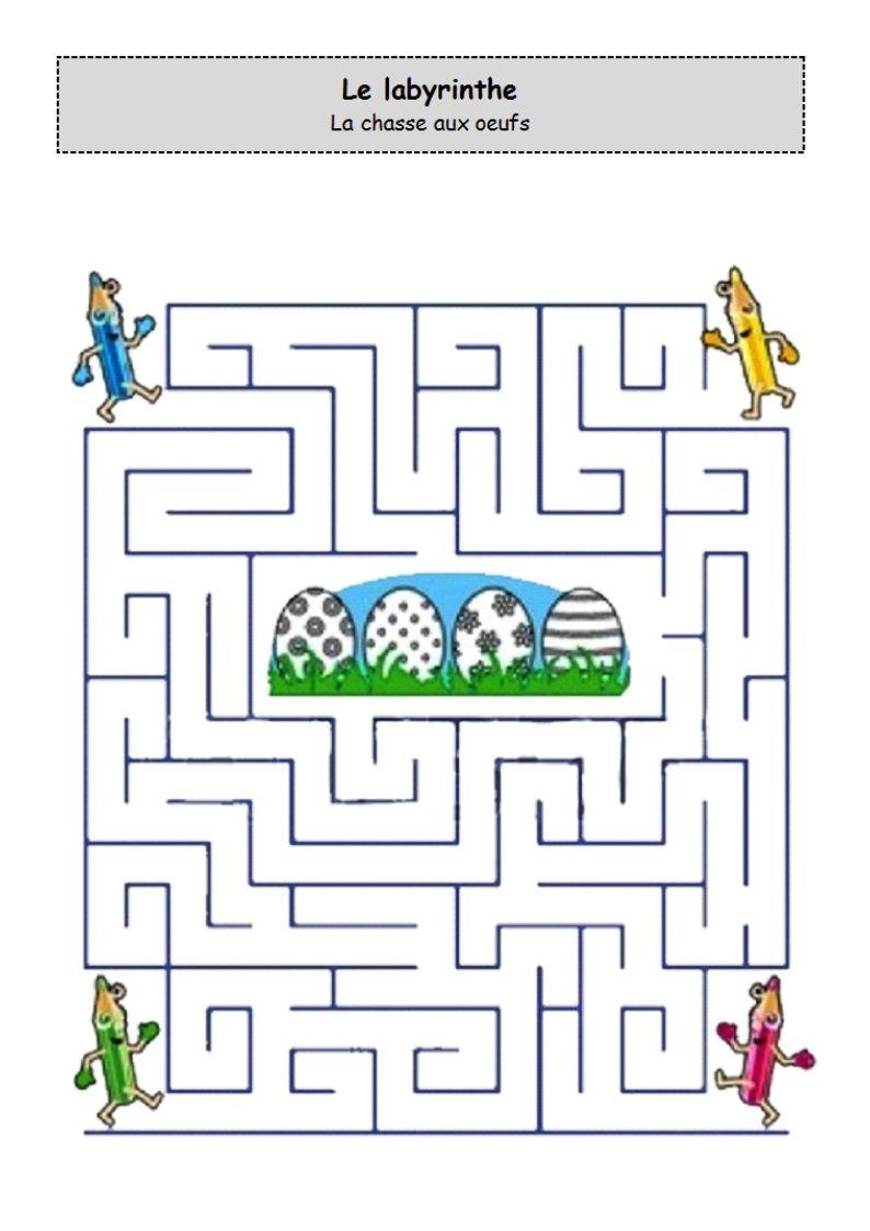 Un Peu Comme A Ecole Labyrinthe dedans Fiche D Exercice Grande Section A Imprimer