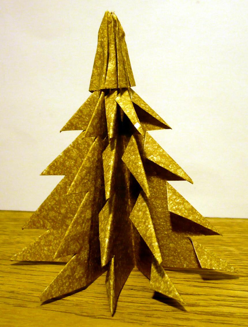 Un Sapin De Noël En Origami | Emballage Cadeau avec Origami Sapin De Noel