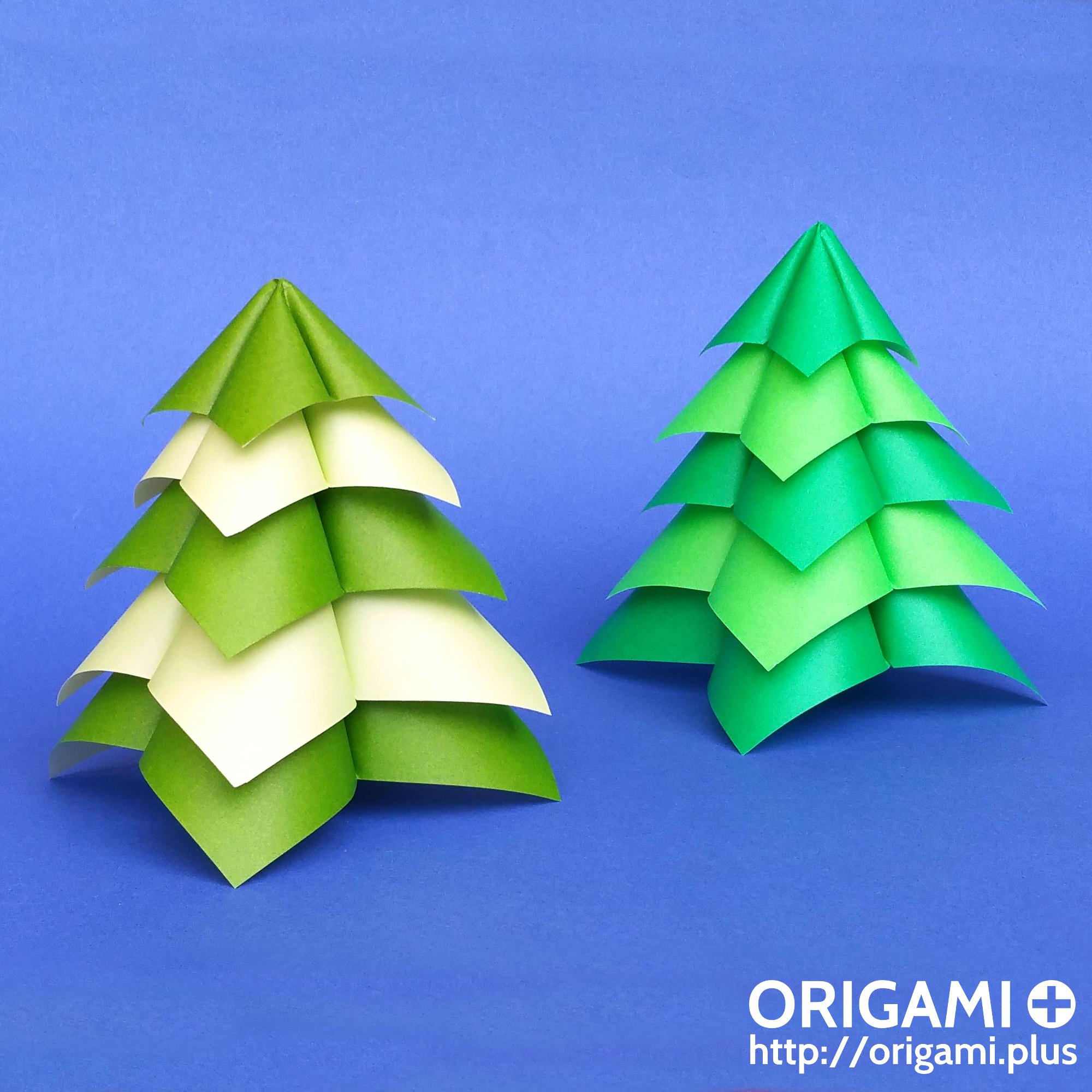 Un Sapin De Noël En Origami Qui Ne Prend Que 5 Minutes À Faire ! concernant Origami Facile A Faire En Français