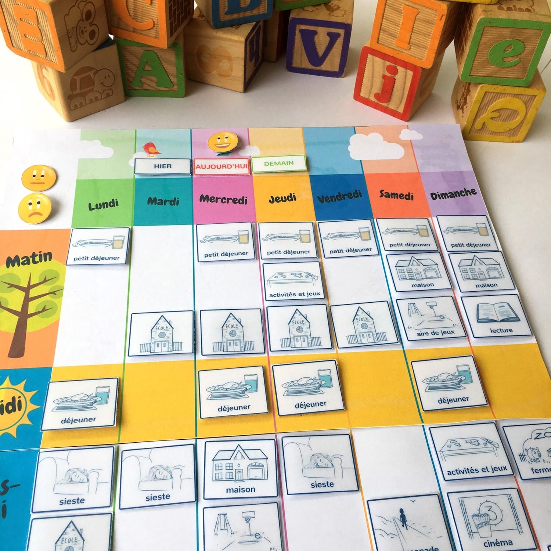 Un Semainier À Imprimer Gratuitement : Aide Ton Enfant À Se dedans Jeux Enfant 3 Ans Gratuit