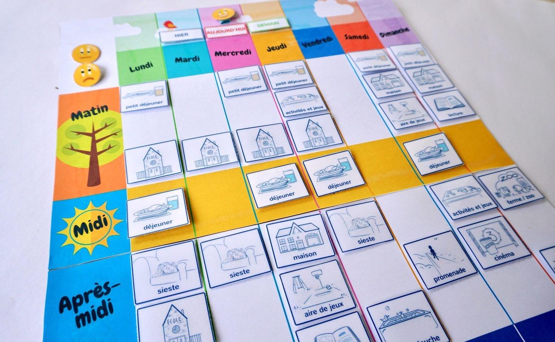 Un Semainier À Imprimer Gratuitement : Aide Ton Enfant À Se pour Jeux Enfant 3 Ans Gratuit