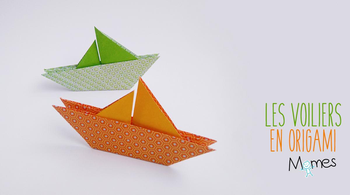 Un Voilier En Origami - Momes destiné Origami Facile A Faire En Français