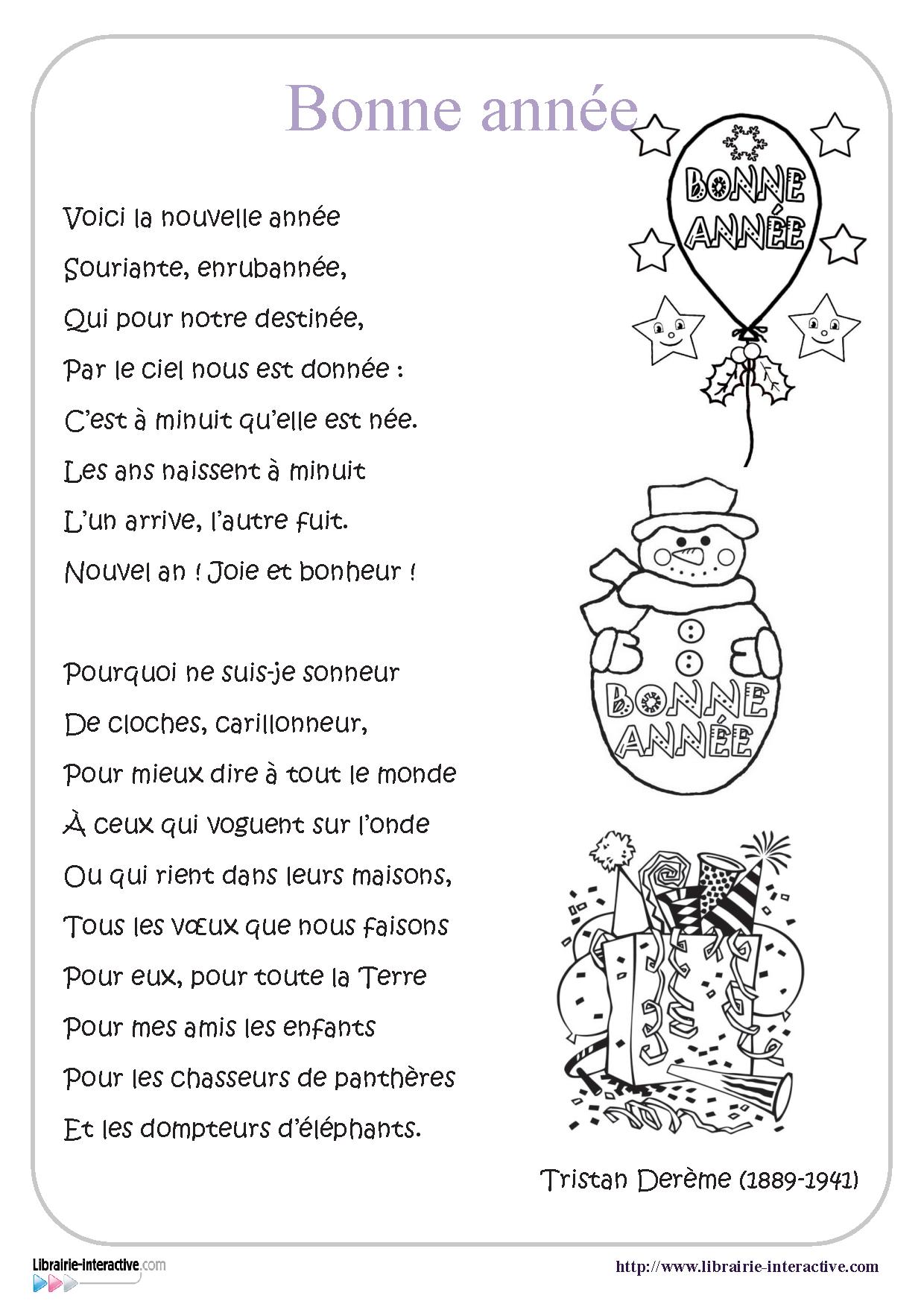 Une Belle Poésie Sur Le Thème De La Nouvelle Année Pour Les serapportantà Poeme Voeux Nouvel An