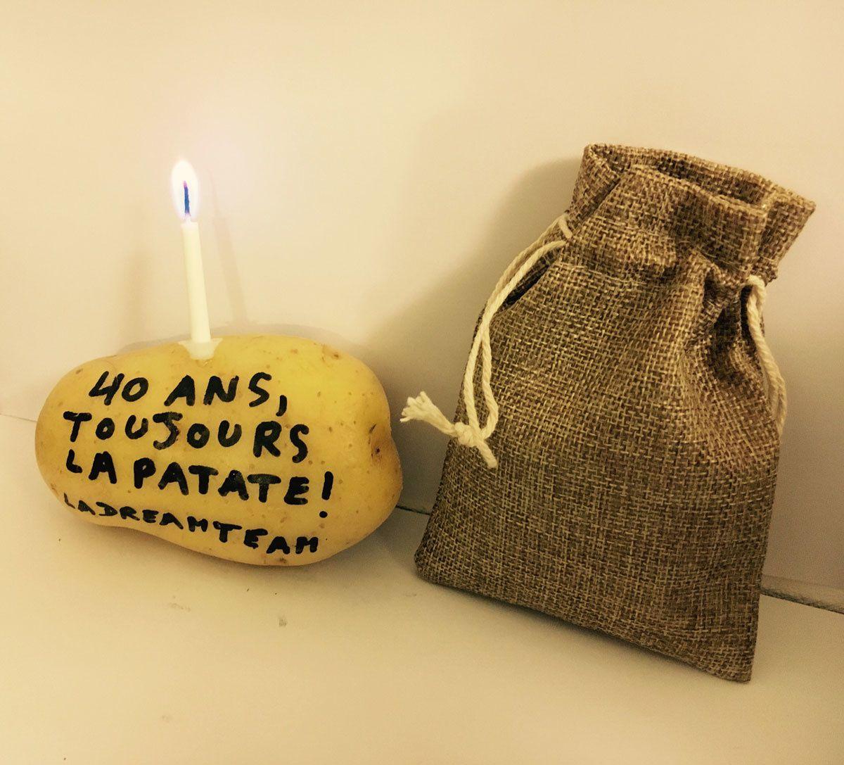 Une Carte D'anniversaire Qui Donne La Patate tout Chanson De La Patate