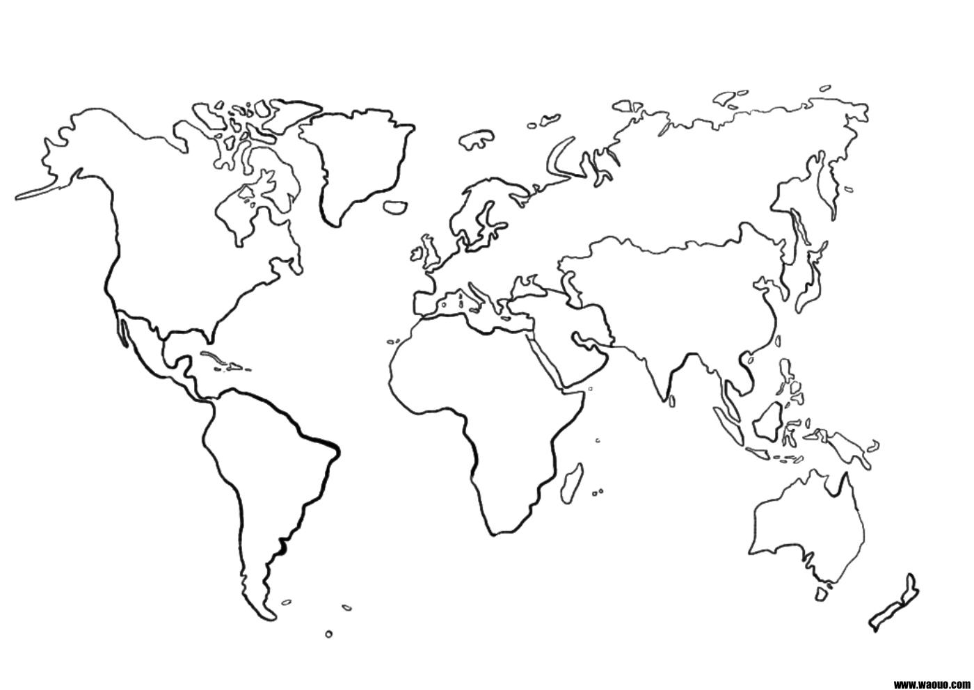 Une Carte Du Monde (Mappemonde) Vierge Pour La Géographie À dedans Dessin Mappemonde