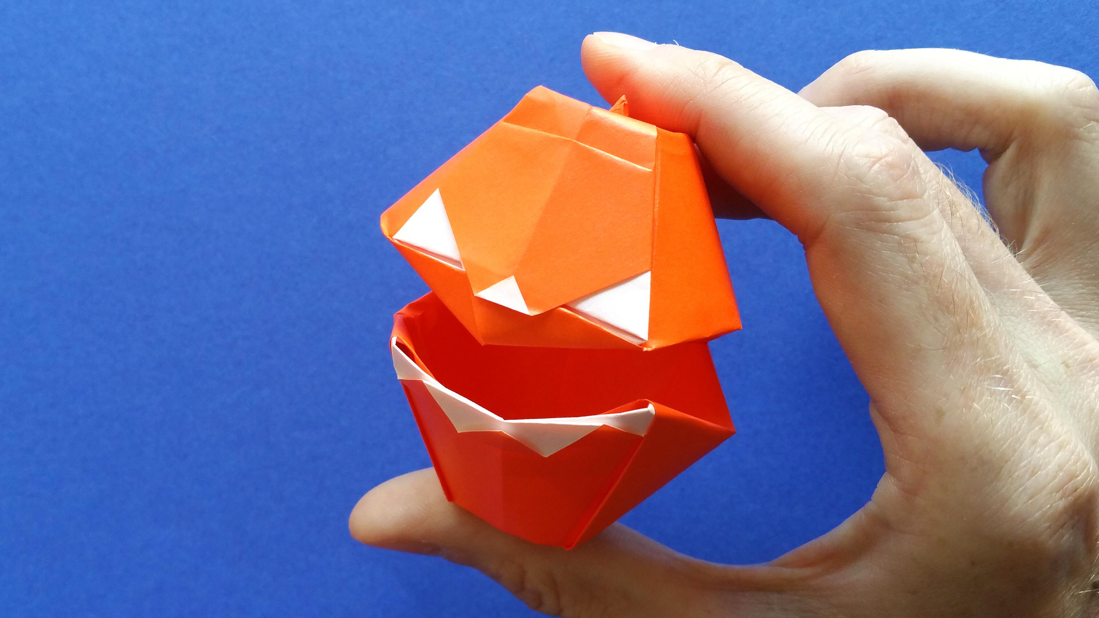Une Citrouille D'halloween En Origami Qui Parle ! encequiconcerne Origami Chauve Souris