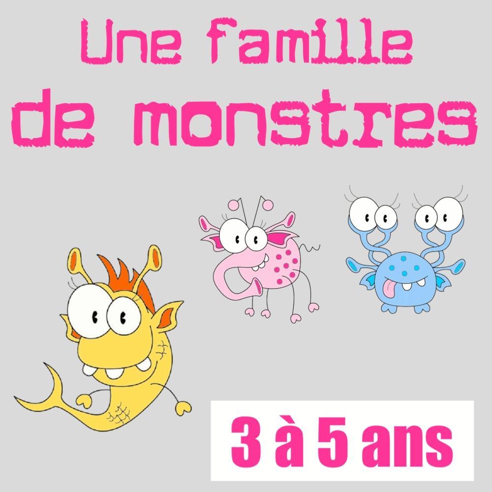 Une Famille De Monstres à Activité Chasse Au Trésor