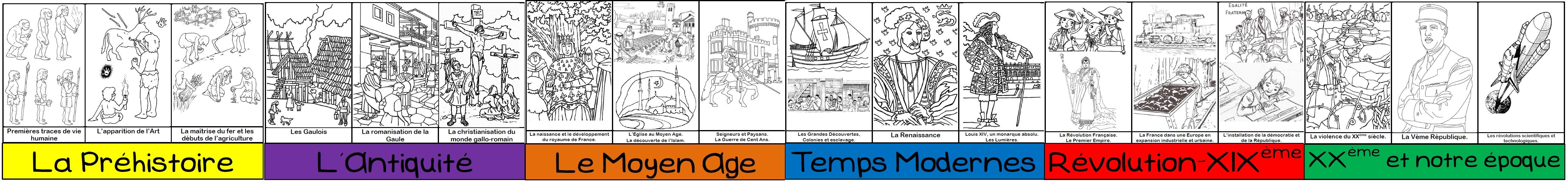 Une Frise Historique (À Colorier) | Ma Maitresse De Cm1-Cm2 intérieur Frise Chronologique Vierge Ce1