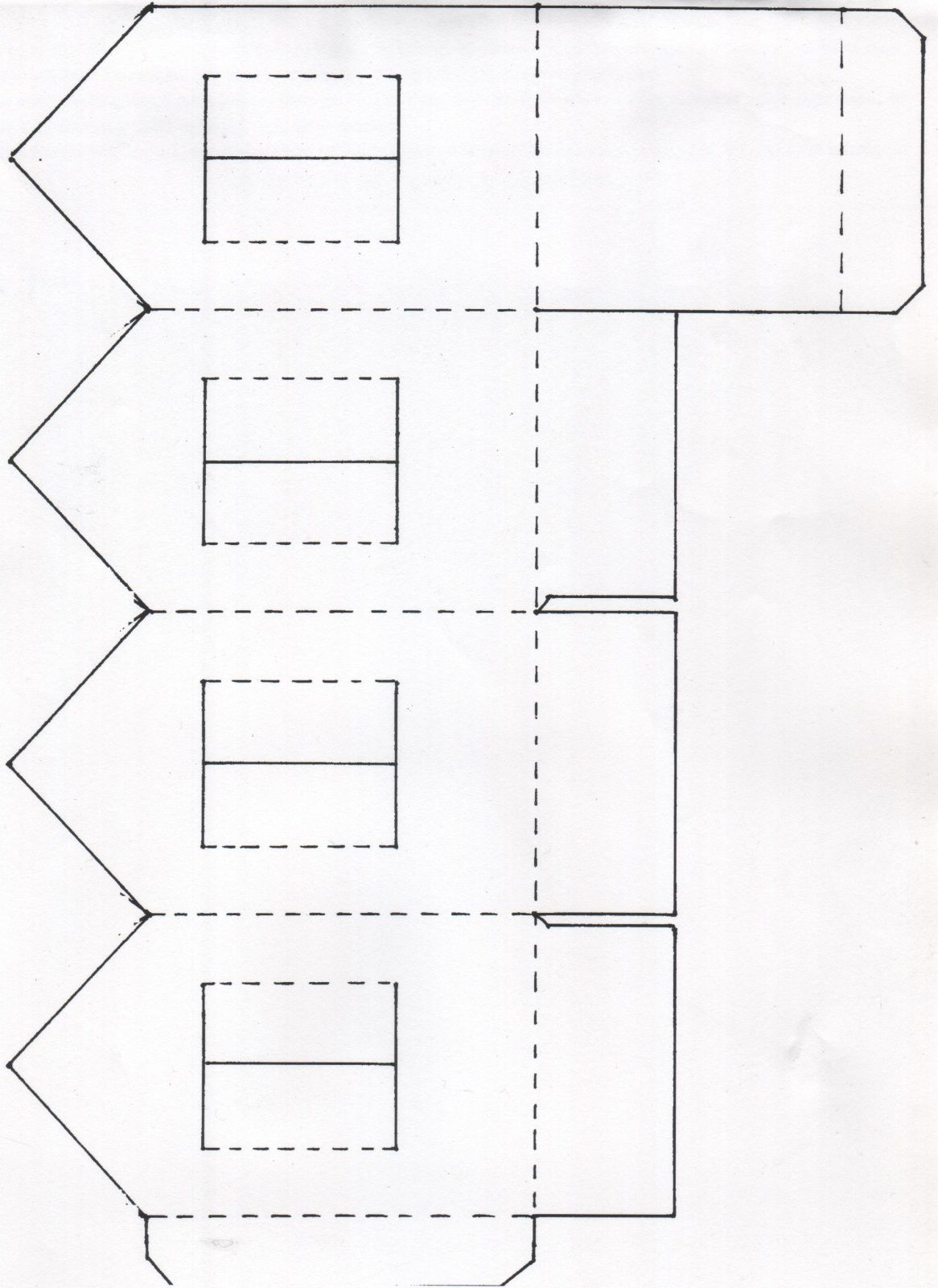 Une Maison Photophore En Papier   Maisons De Papier, Papier à Patron De Maison En Papier A Imprimer