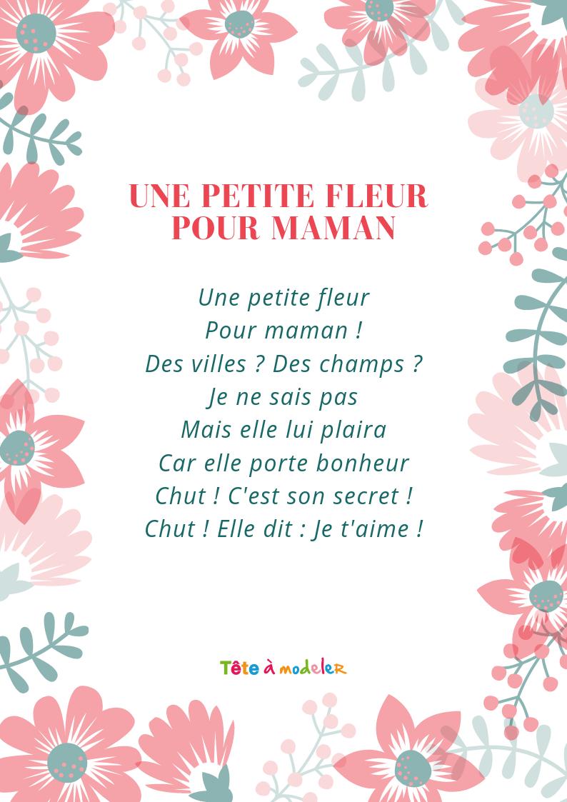 Une Petite Plante Pour Maman – Un Poème Pour Maman Avec Tête tout Poeme Les Fleurs