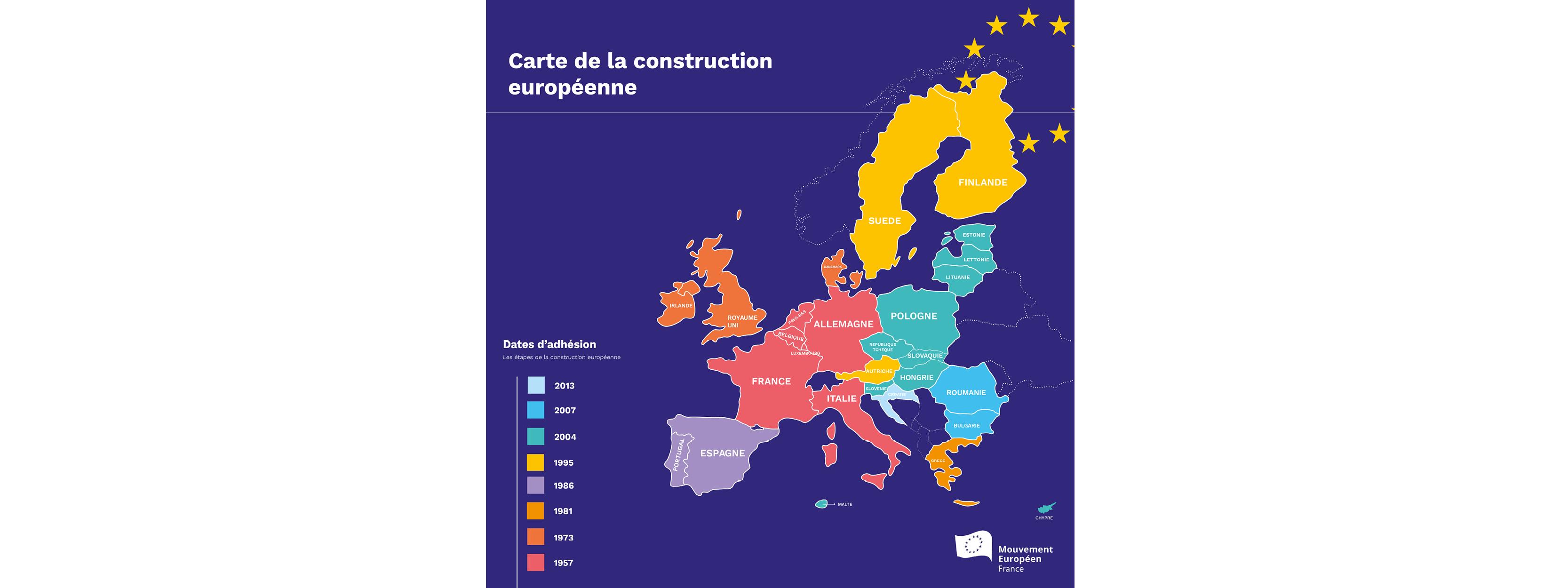 Union Européenne : La Construction Européenne En Carte concernant Union Européenne Carte Vierge