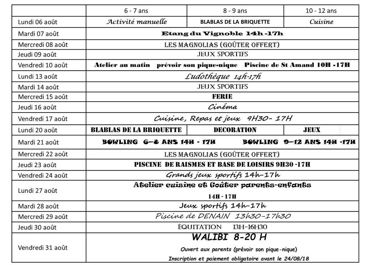 Vacances D'ete 2018 - Centre Social Et Culturel De La Briquette avec Jeux Sportifs 6 12 Ans