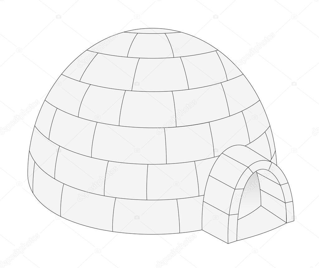 Vecteurs Pour Igloo, Illustrations Libres De Droits Pour tout Coloriage Igloo