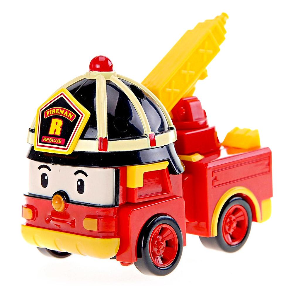 Véhicule Robocar Poli Transformable : Roy Le Camion De Pompier avec Chanson Robocar Poli