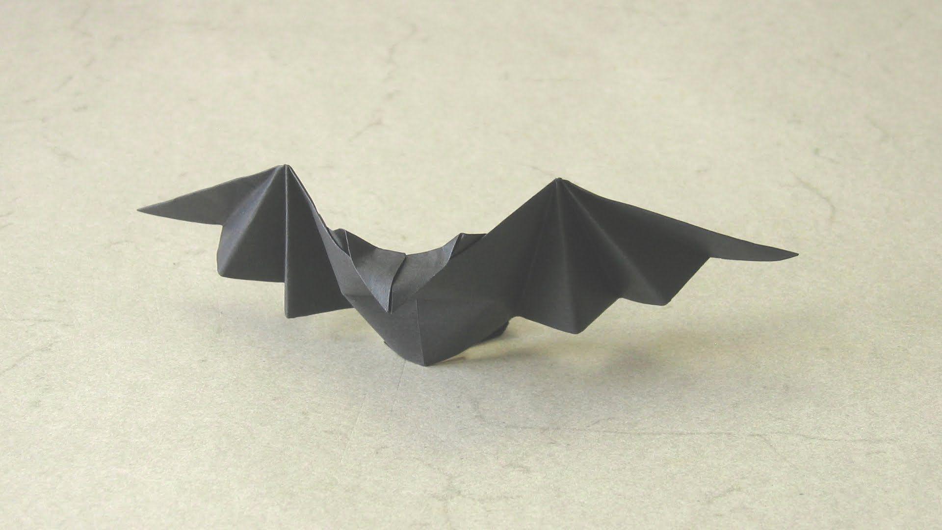 Vidéo Chauve Souris En Origami   Vidéos Origami, Tuto serapportantà Origami Chauve Souris