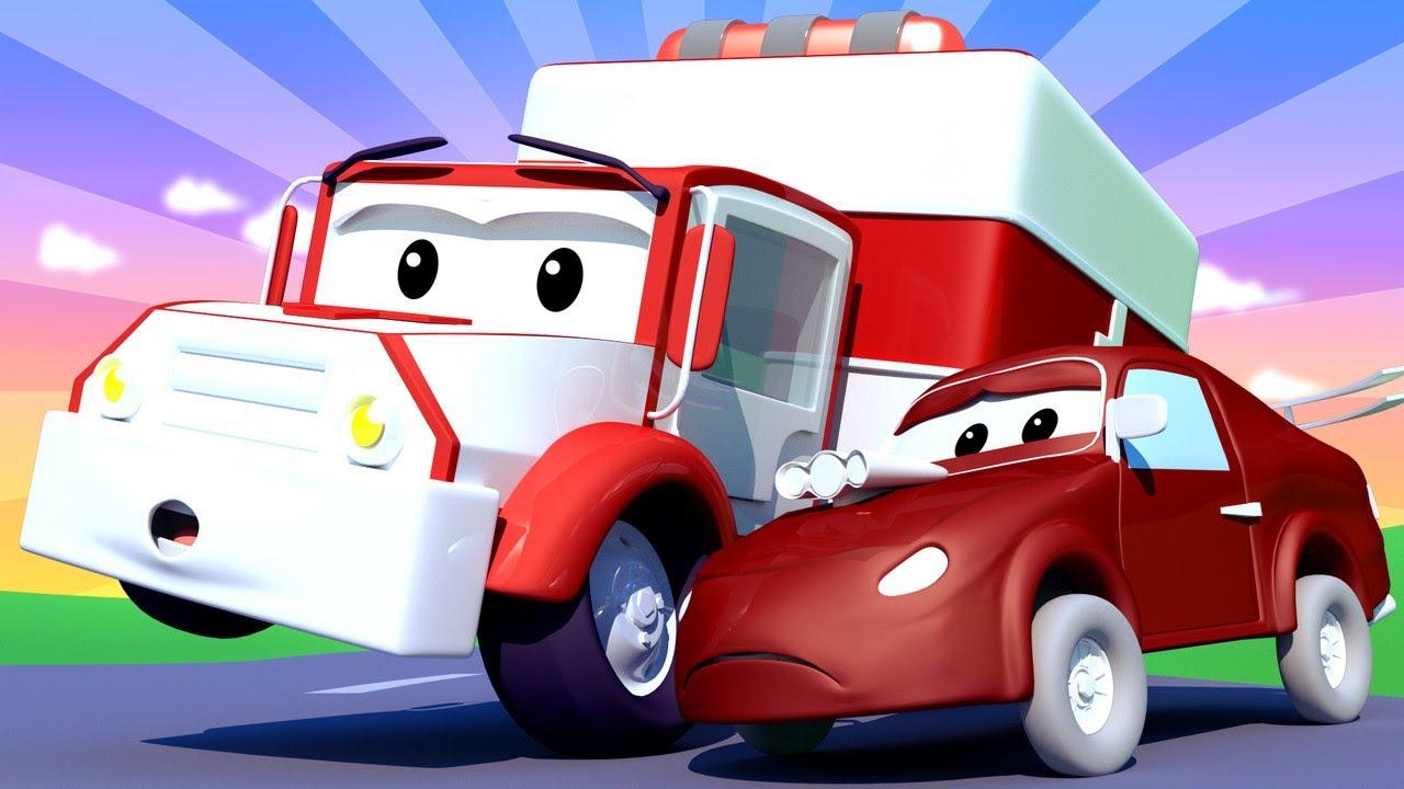 Vidéos D'ambulance Pour Enfants - Bébé Jerry La Voiture De tout La Voiture De Course Dessin Animé