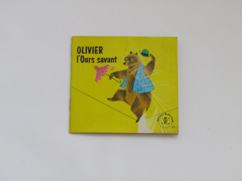 Vintage French Children's Book Olivier L'ours Savant, French Kid's Book,  French Children's Small Book, Kids Books Vintage, Nursery destiné Ours Savant
