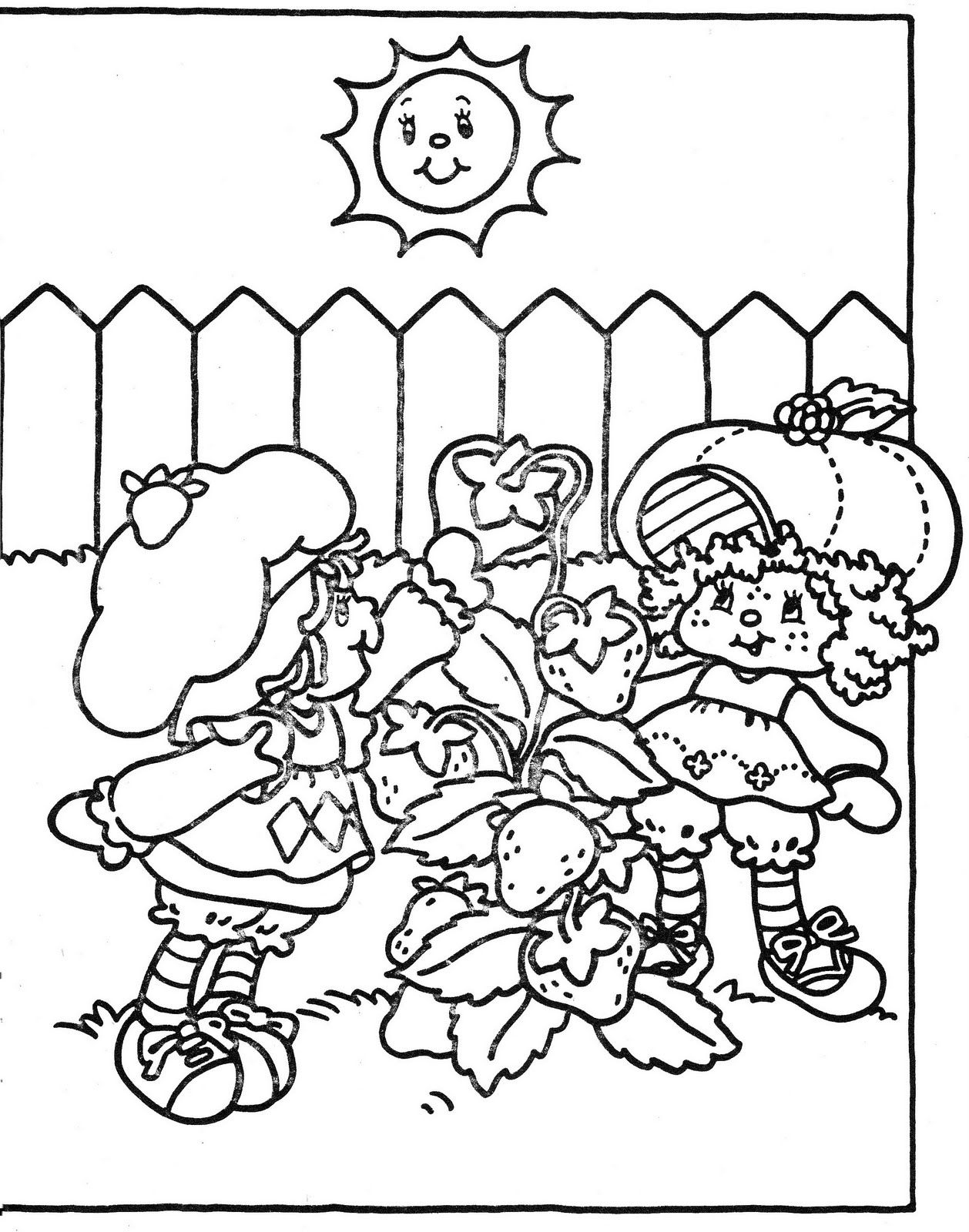 Vintage Kenner / American Greetings Strawberry Shortcake pour Coloriage Charlotte Aux Fraises Et Ses Amies