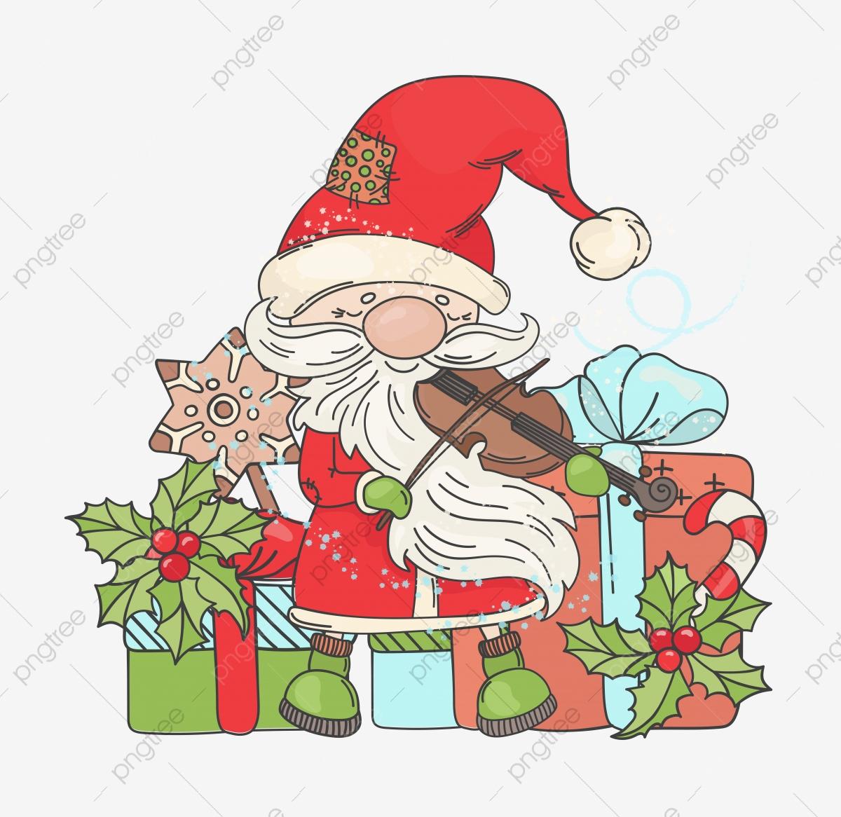 Violon Santa Musique Joyeux Noël Et Nouvel An Musicien destiné Musique Du Père Noël