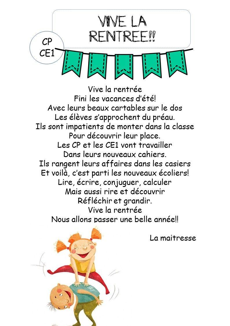 Vive La Rentree   Vive La Rentrée, La Rentrée Et Classe tout Poésie Vive Les Vacances