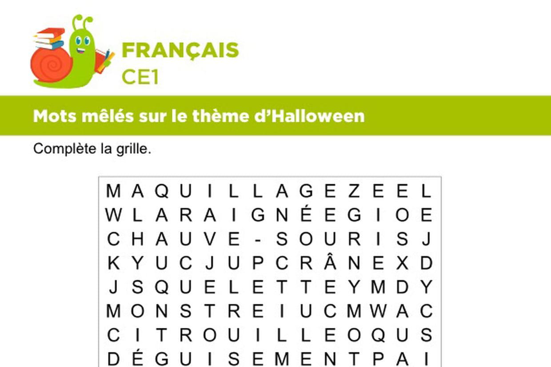 Vocabulaire, Mots Mêlés Sur Le Thème D'halloween avec Halloween Ce2