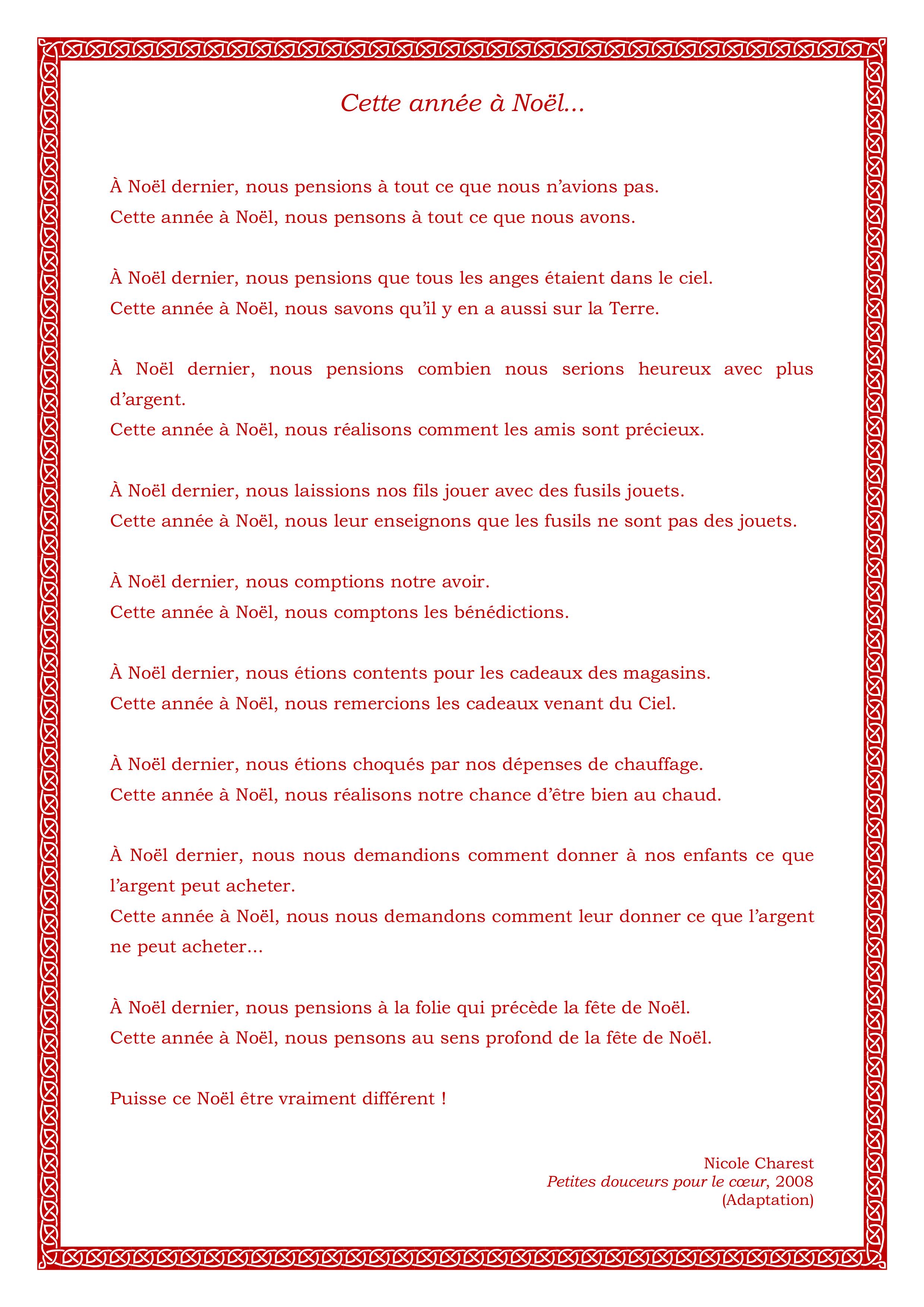 Voeux Et Poèmes De Noël | Noël Parmi Nous ! à Poeme Voeux Nouvel An