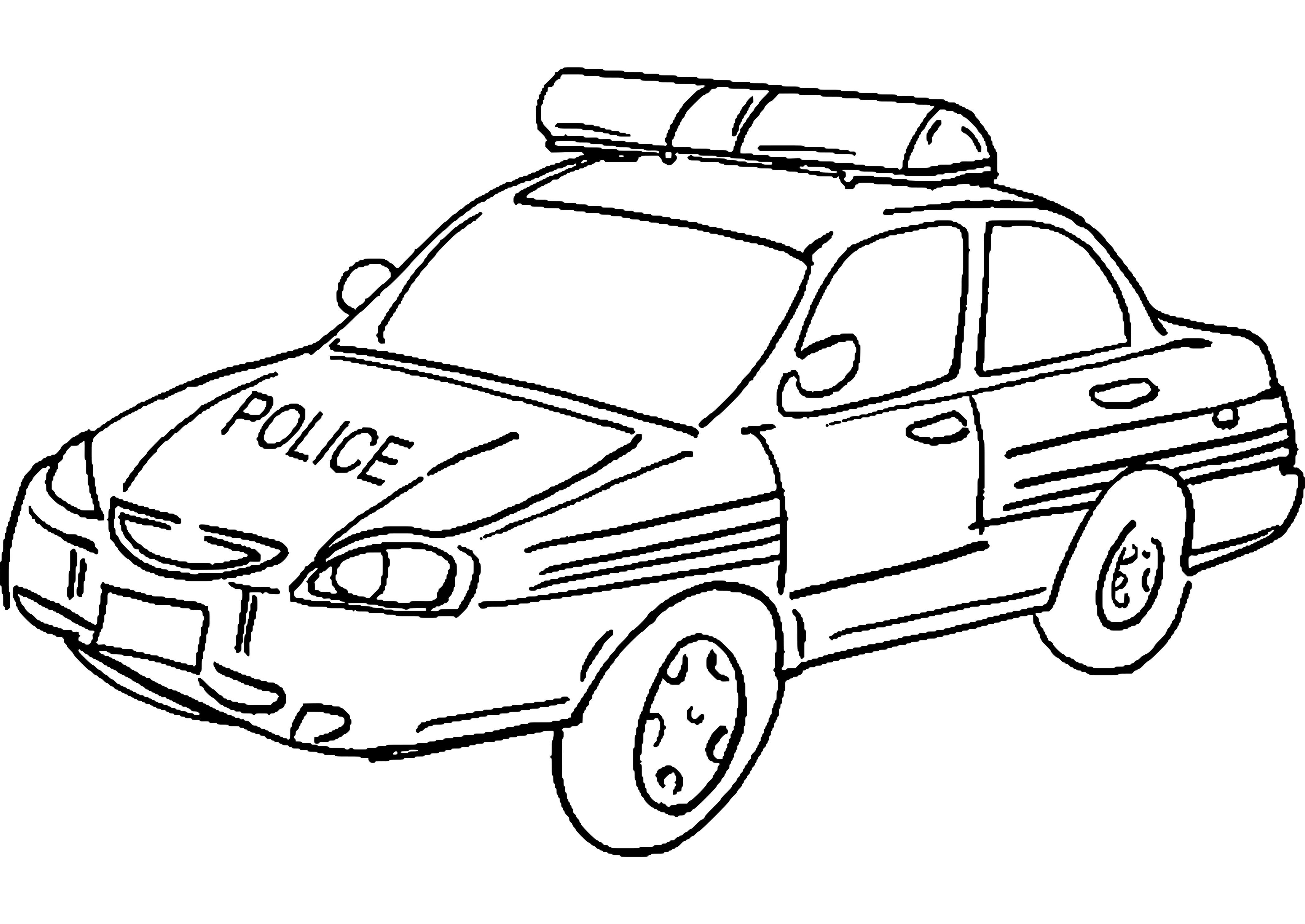 Voiture De Police #10 (Transport) – Coloriages À Imprimer avec Coloriage Vehicule