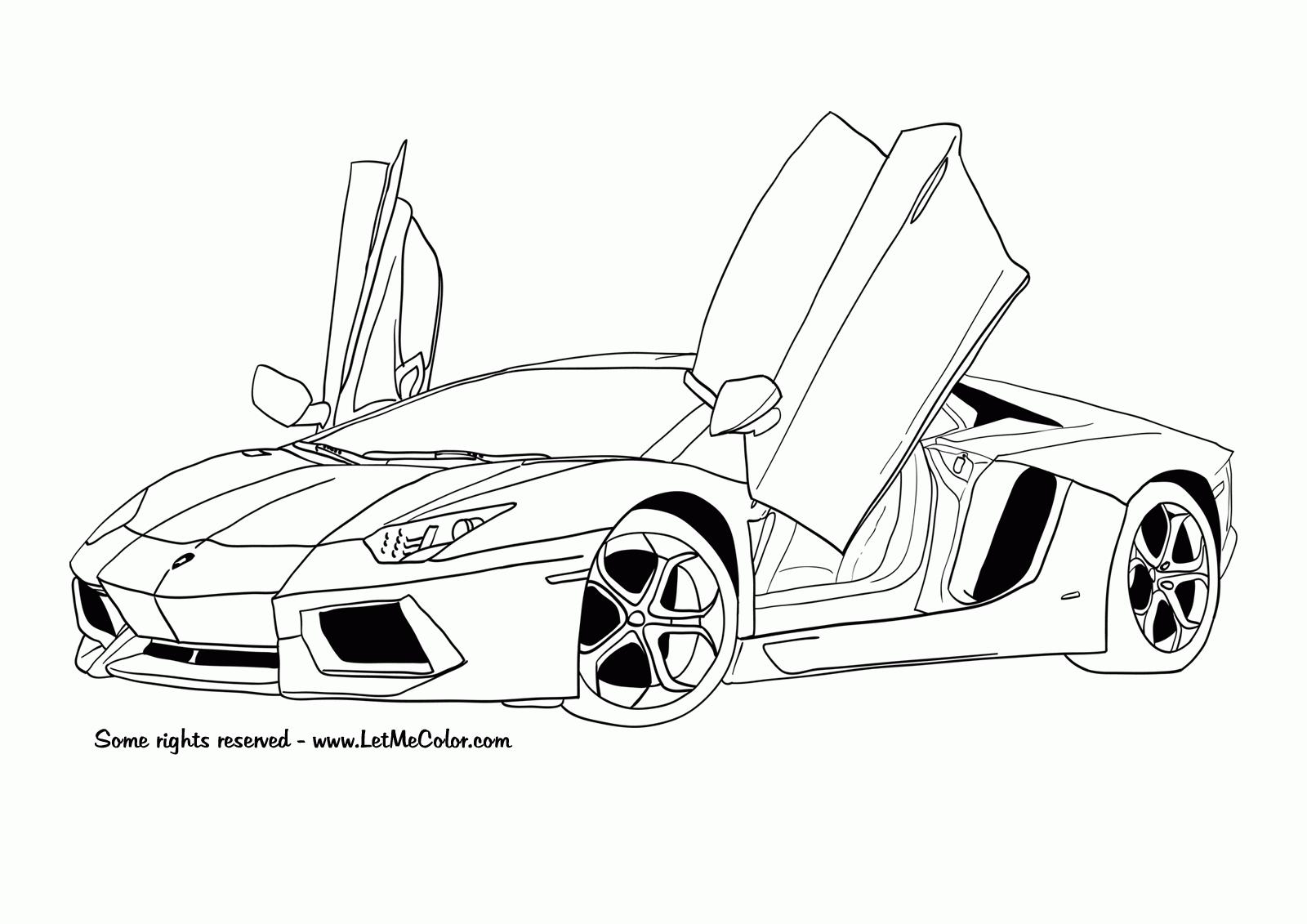 Voiture Sport / Tuning #152 (Transport) – Coloriages À Imprimer avec Coloriage Vehicule