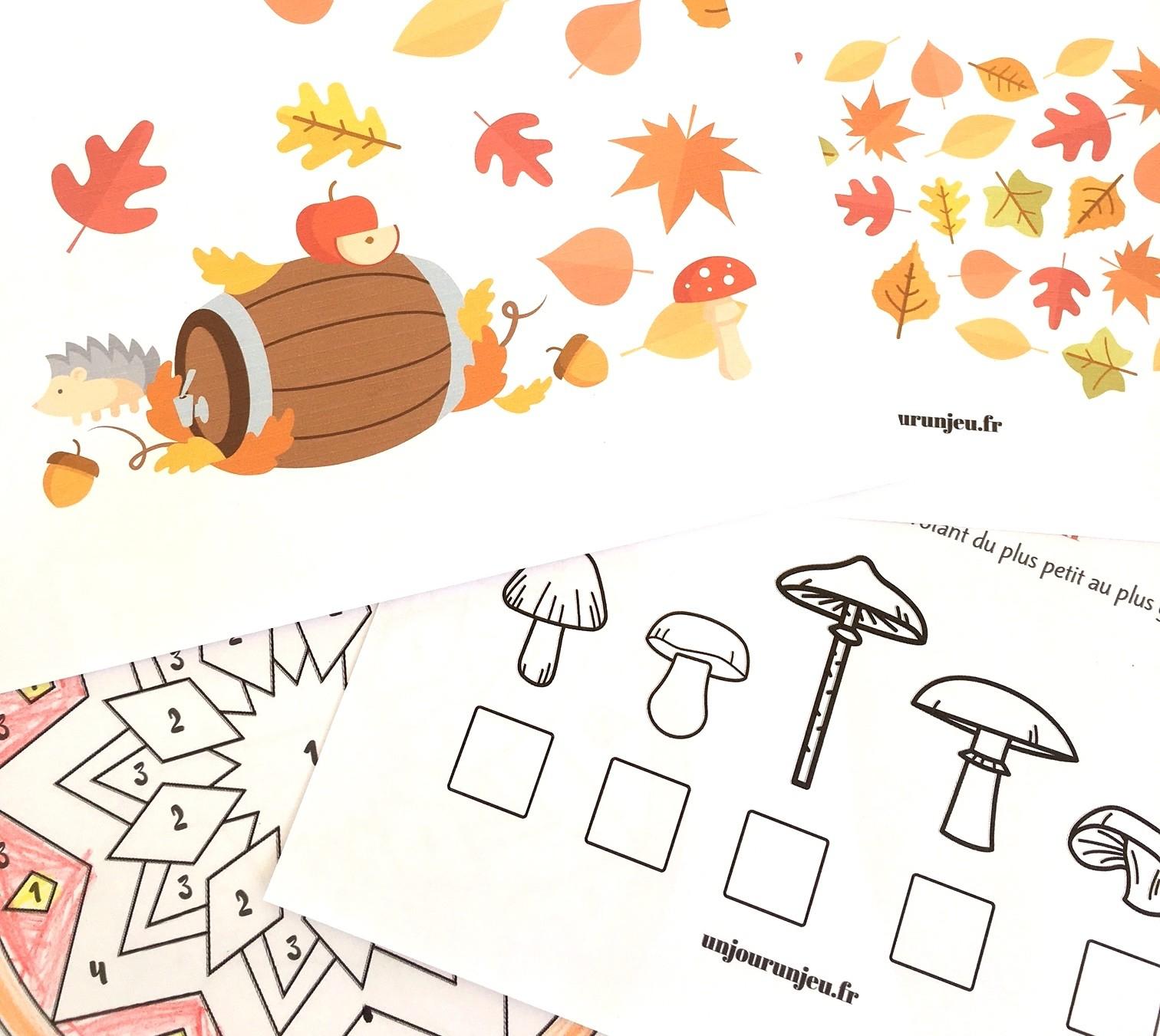 Votre Cahier D'activités De L'automne À Télécharger Gratuitement dedans Jeux Facile Pour Petit Gratuit